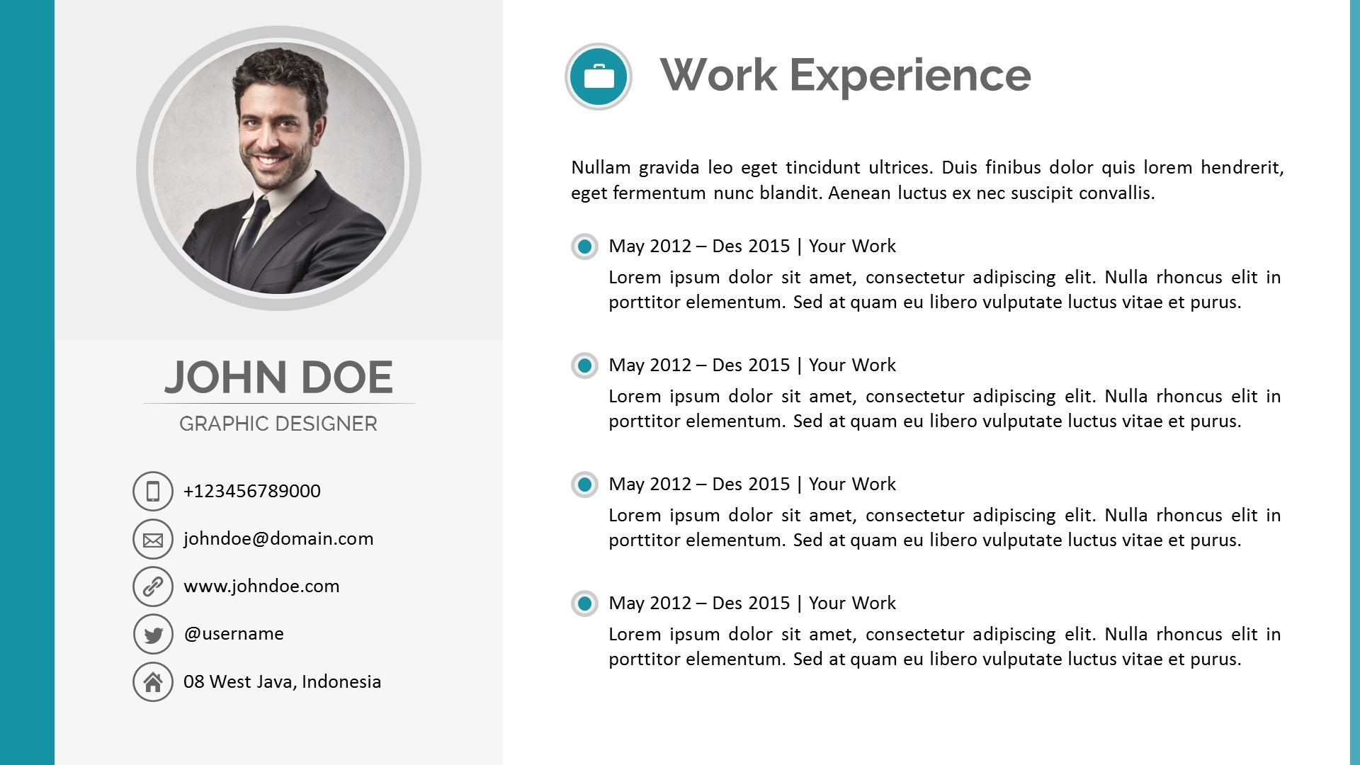 resume powerpoint template by pptx