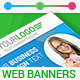 Material Corporate PSD Banner Ads - GraphicRiver Item for Sale