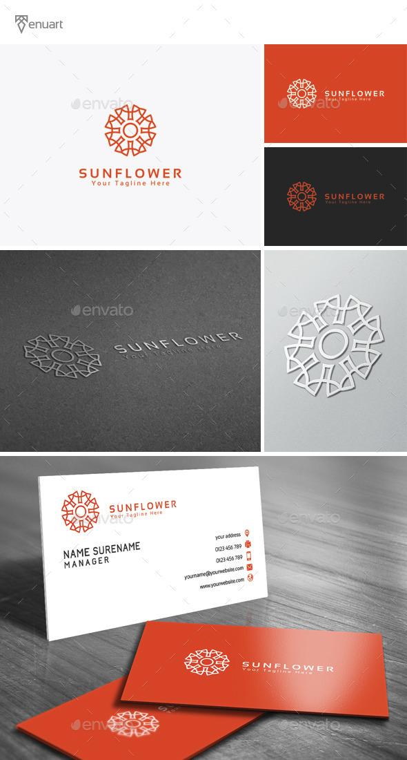 Sun Flower Logo - Nature Logo Templates