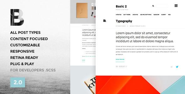 Basic 2.0 – Responsive Portfolio Tumblr Theme