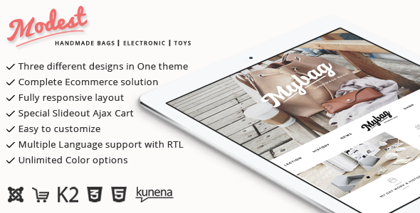 Modest – Multipurpose Joomla Virtuemart Theme