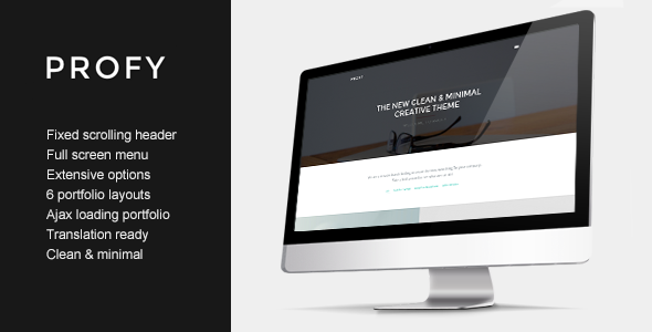 Profy – Clean Ajax Powered Portfolio Theme