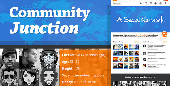 CommunityJunction – BuddyPress Theme