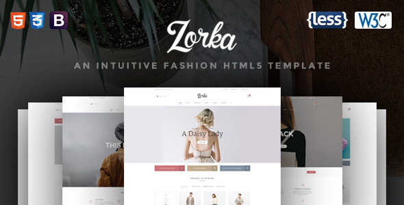 Zorka – An Intuitive Fashion HTML5 Template