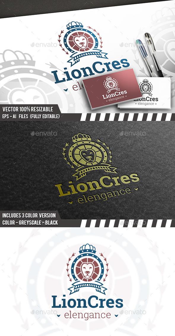 Lion Royal Logo - Animals Logo Templates