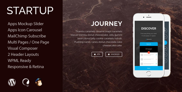 Startup – App Agency WordPress Theme