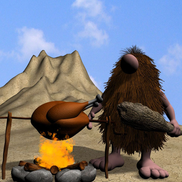 Cartoon Caveman Character Rigged - 3DOcean Item for Sale