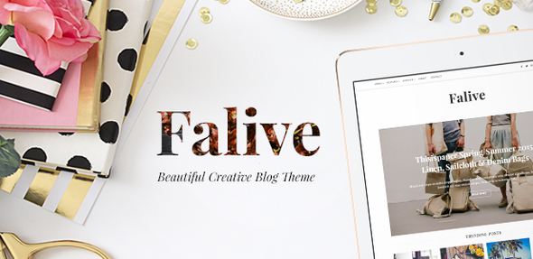 Falive – Beautiful Creative & Fashion Blog Theme