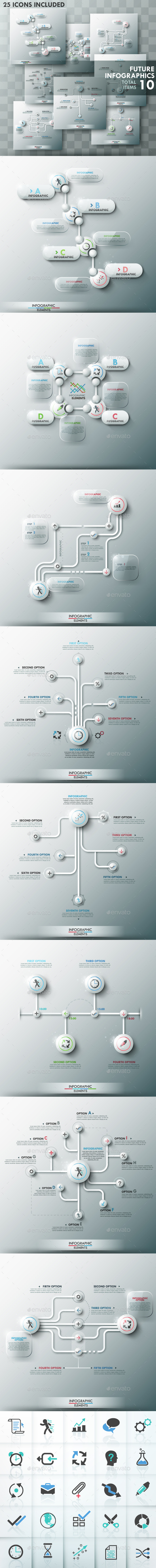 Future Infographic Templates Set - Infographics