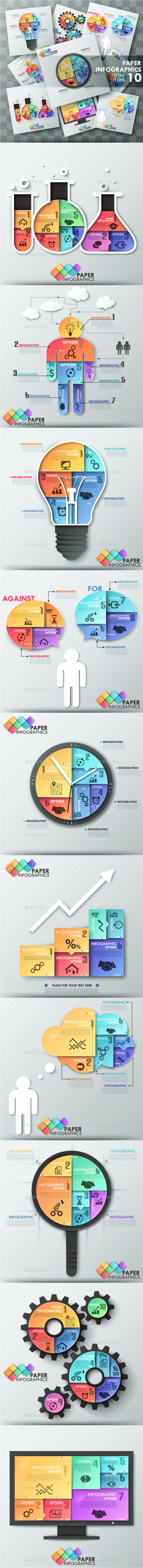 The Third Bundle. Paper Infographic Templates - Infographics