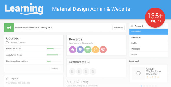 Learning App - Learning Management System Template - Admin Templates Site Templates
