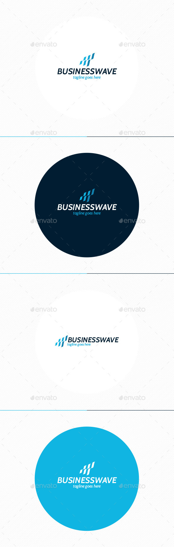 Business Wave Logo - Vector Abstract