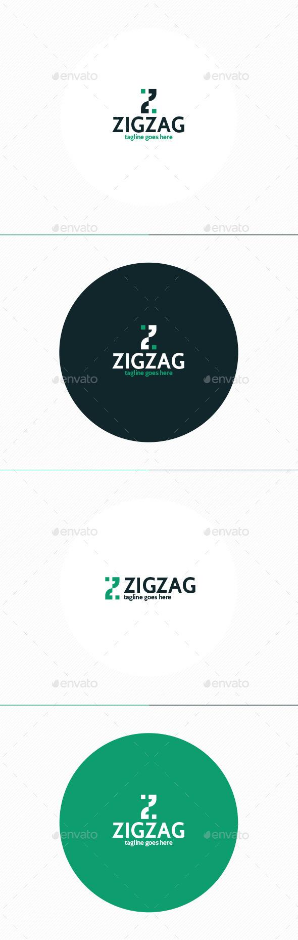 Zig Zag Logo • Letter Z - Letters Logo Templates