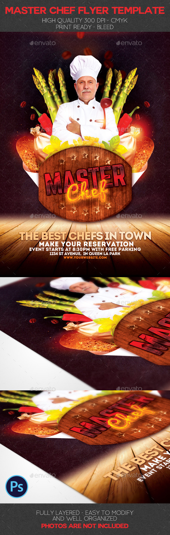 Master Chef Flyer Template - Events Flyers