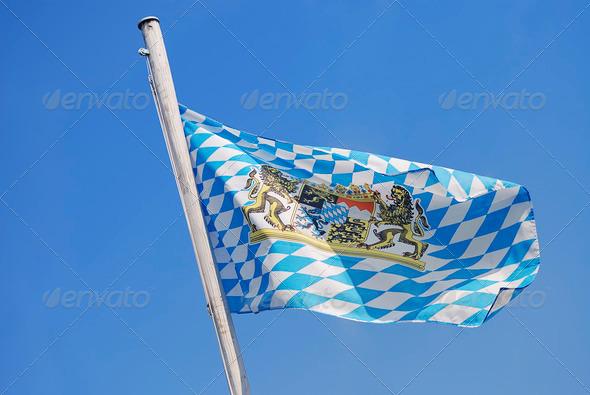 Flag of Bavaria - Stock Photo - Images