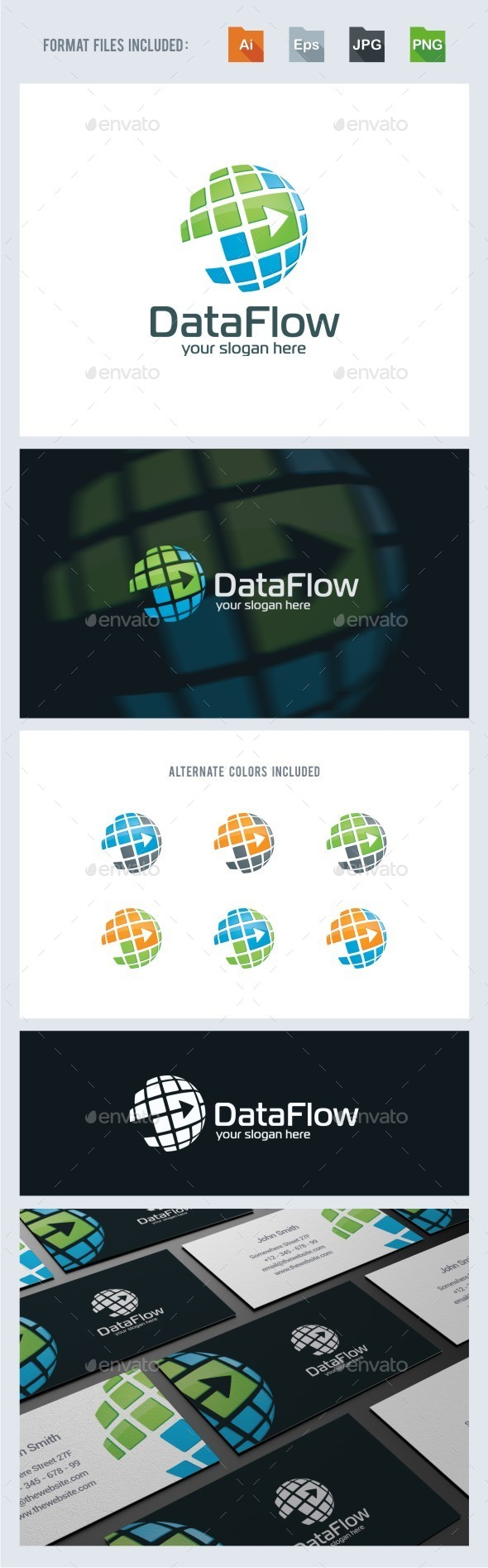 Data Flow - Logo Template - Symbols Logo Templates