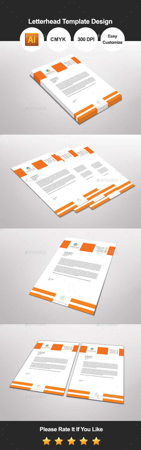Orandian letterhead template design by graphicsdesignator orandian letterhead template design proposals invoices stationery spiritdancerdesigns Choice Image