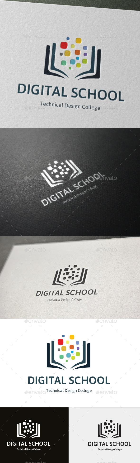 Technical Design College Logo Digital School - College Logo Templates