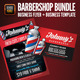 Barbershop Flyer & Business Card Template Bundle - GraphicRiver Item for Sale