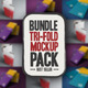 Bundle NT Tri-Fold Mockup  - GraphicRiver Item for Sale