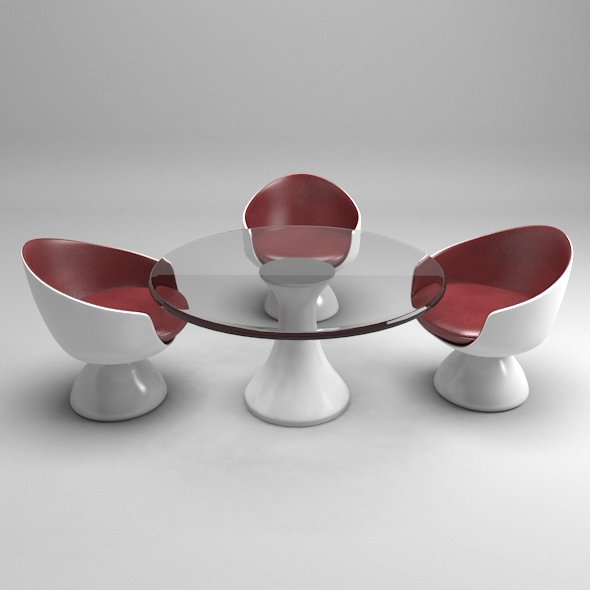 Modern Table-Chair - 3DOcean Item for Sale