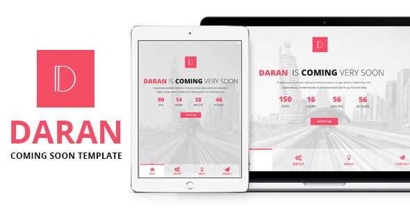 Daran – Responsive Coming Soon Template