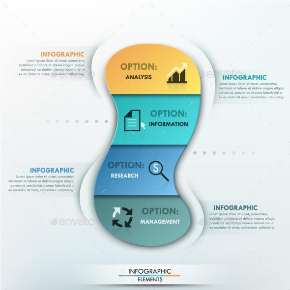Modern Infographics Options Template - Infographics