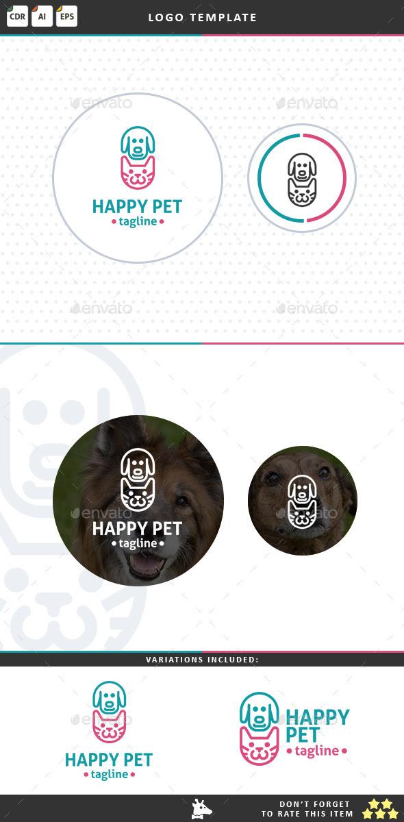 Happy Pet - Animals Logo Templates