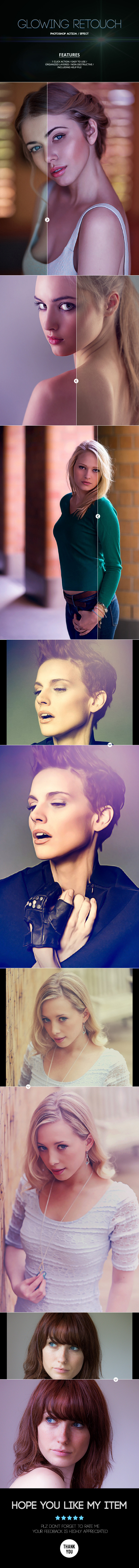 Glowing Retouch - Photo Effects Actions