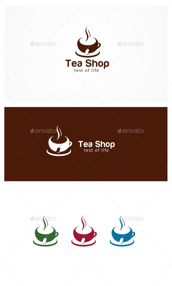 Tea Shop - Symbols Logo Templates