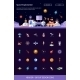 Header with Modern Flat Design Space Icons - GraphicRiver Item for Sale