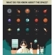 Poster with Modern Flat Design Space Icons - GraphicRiver Item for Sale