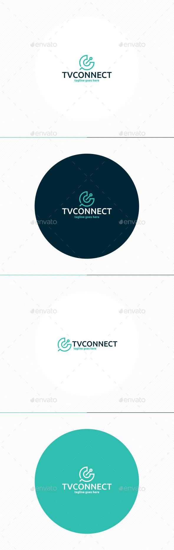 Tv Connect Logo • Letter C - Letters Logo Templates