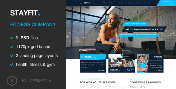 Stayfit - Fitness PSD Template - Business Corporate