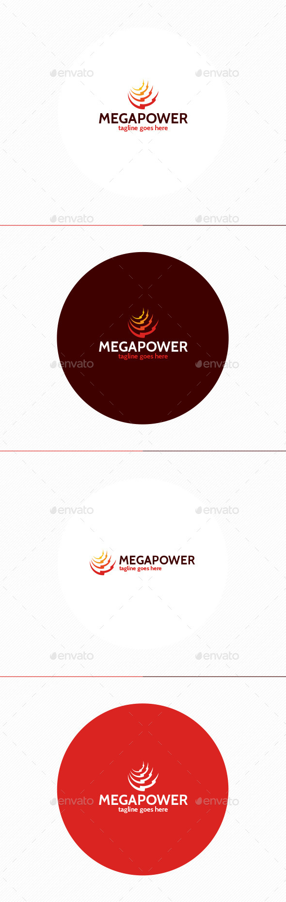 Mega Power Logo - Vector Abstract