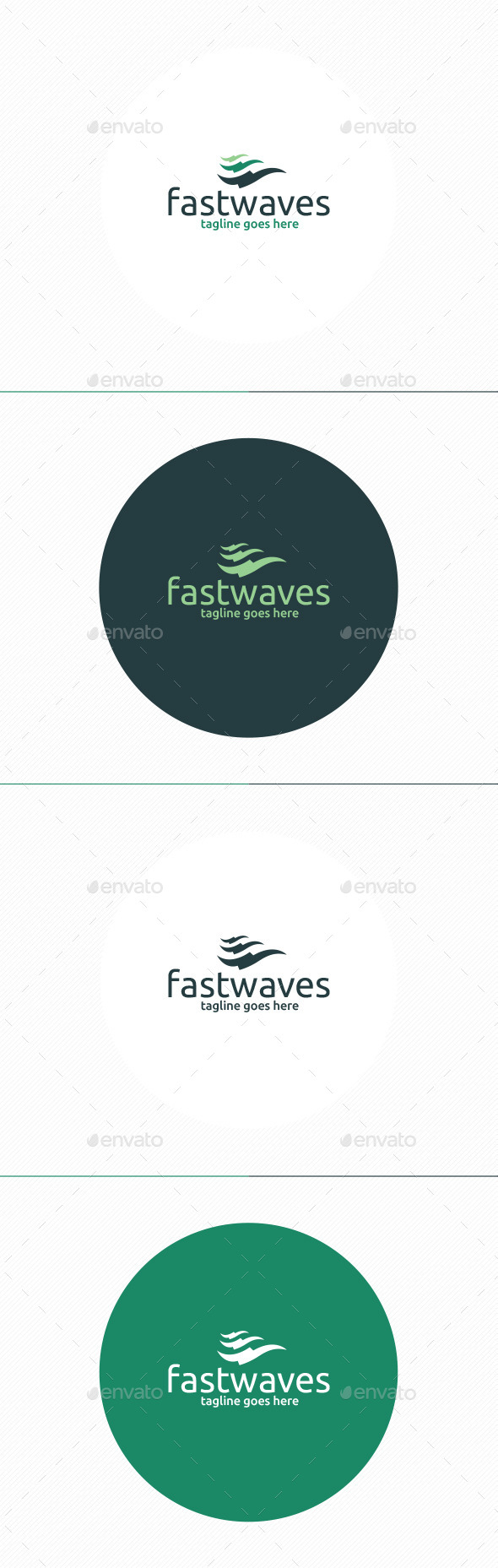 Fast Waves Logo - Vector Abstract