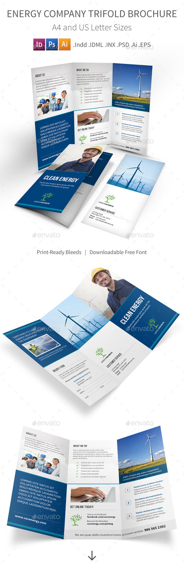 Energy Company Trifold Brochure - Corporate Brochures