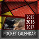 Pocket Calendar 2016 - 2015 - 2017 - Metro Style - GraphicRiver Item for Sale