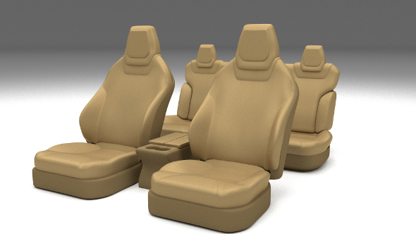 Tesla Model S Seats Cream - 3DOcean Item for Sale