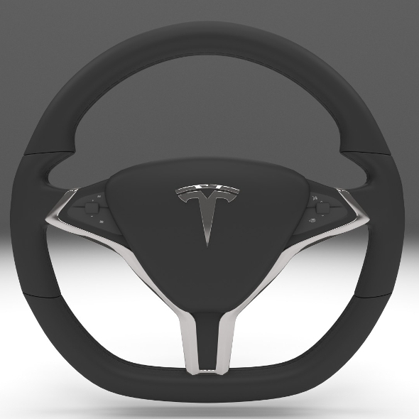 Tesla Model S Steering Wheel - 3DOcean Item for Sale