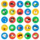 Conceptual Flat Circle Icons