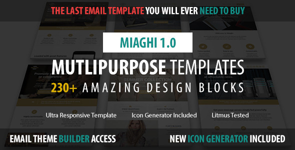 Miaghi - Multipurpose Email + Builder Access