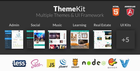 ThemeKit – Angular, HTML Bootstrap Themes & Admin