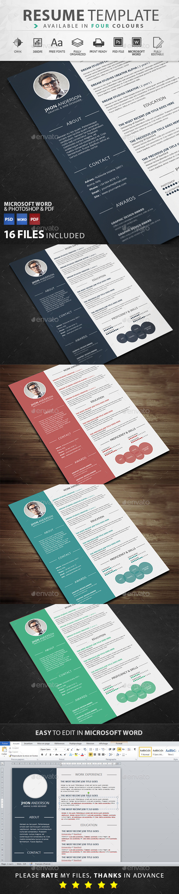 Resume By Graphicstoll  Graphicriver