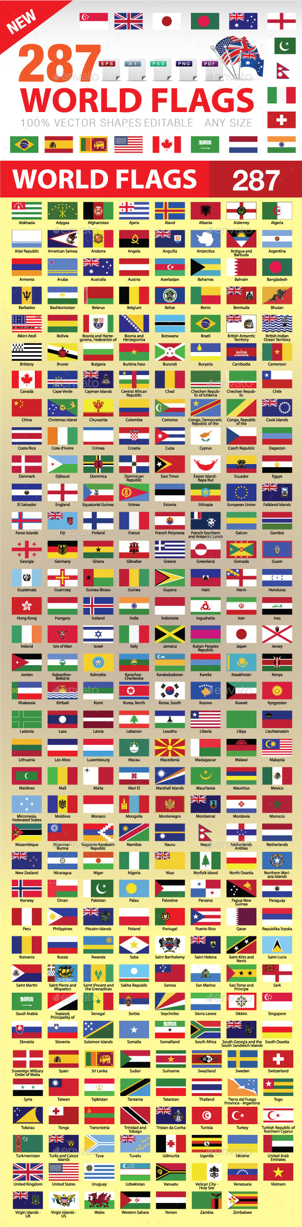287 world flags by afarcreations graphicriver
