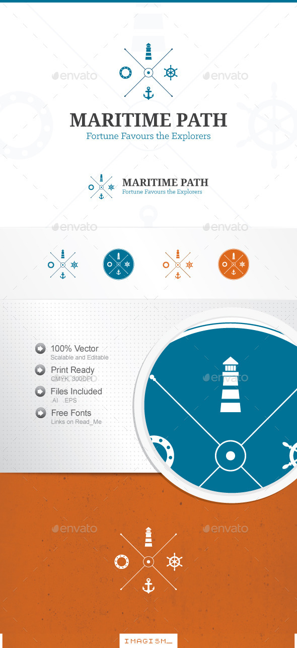 Maritime Path Logo - Nature Logo Templates