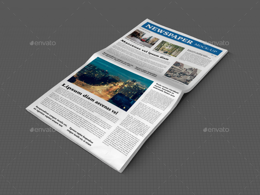 Newspaper Mock-up by srvalle | GraphicRiver