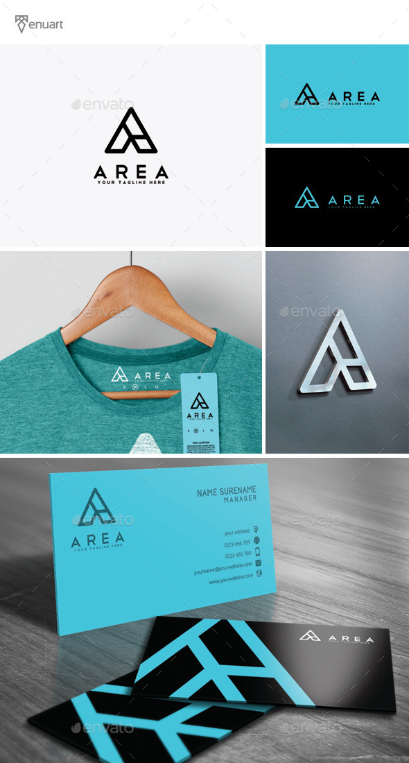 Area - Letter A Logo - Letters Logo Templates