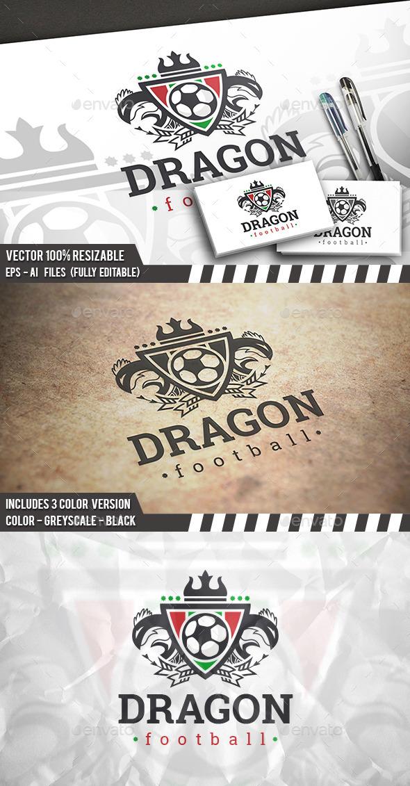 Dragon Football Logo - Crests Logo Templates