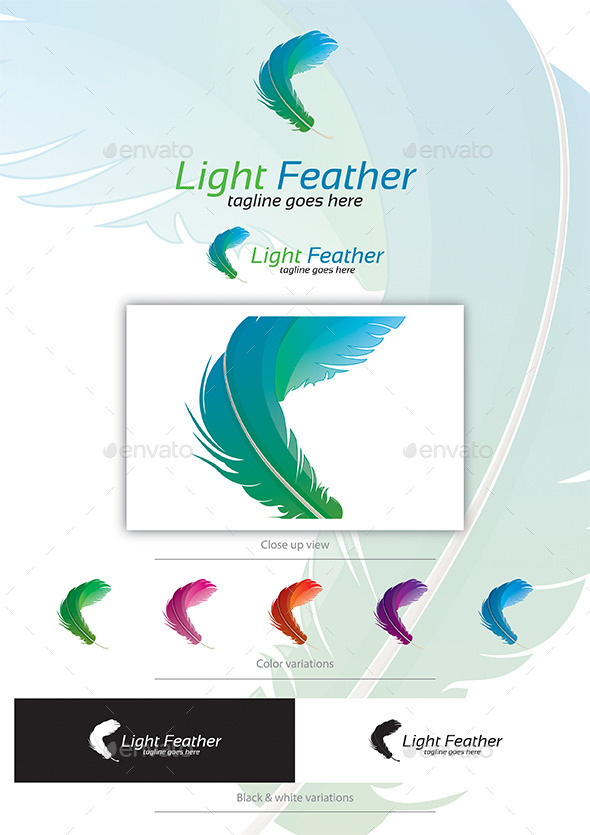 Light Feather - Nature Logo Templates